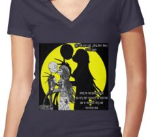 We can live Like Jack and Sally Women's Fitted V-Neck T-Shirt