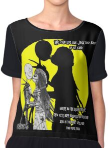 We can live Like Jack and Sally Chiffon Top