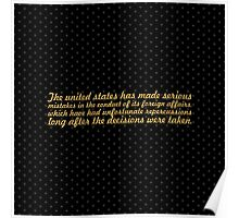 """The united states... """"Nelson Mandela"""" Inspirational Quote (Square) Poster"""