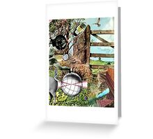 The Weight Lifter. Greeting Card