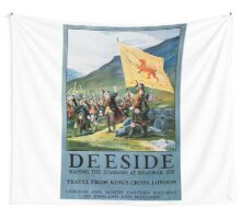 Deeside, British Travel Poster Wall Tapestry