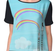 Painting Rainbow Chiffon Top