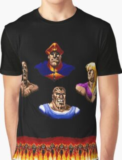Street Fighter 2 End Scene Graphic T-Shirt