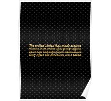 """The united states... """"Nelson Mandela"""" Inspirational Quote Poster"""