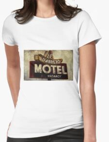 Vintage El Sombrero Motel Sign, Salinas, CA. Womens Fitted T-Shirt