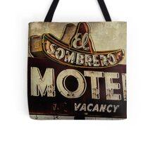 Vintage El Sombrero Motel Sign, Salinas, CA. Tote Bag