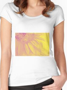 Colorful watercolor of gentle flower with large petals Women's Fitted Scoop T-Shirt