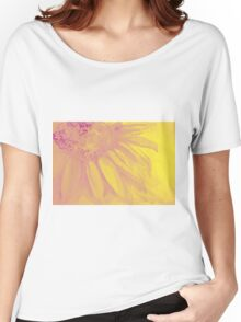 Colorful watercolor of gentle flower with large petals Women's Relaxed Fit T-Shirt