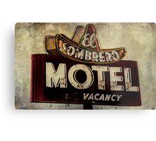 Vintage El Sombrero Motel Sign, Salinas, CA. Metal Print