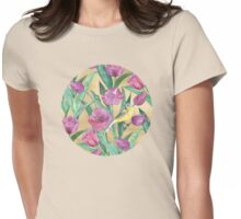 Blue Headed Wagtail in the Tulips Womens Fitted T-Shirt