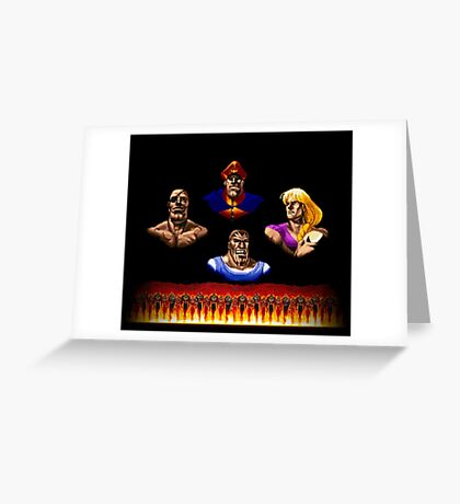 Street Fighter 2 End Scene Greeting Card