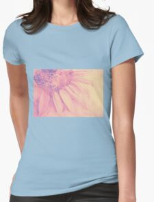 Colorful watercolor of gentle flower with large petals Womens Fitted T-Shirt