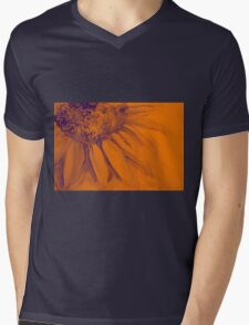 Colorful watercolor of gentle flower with large petals Mens V-Neck T-Shirt