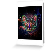 Planet Cat Greeting Card