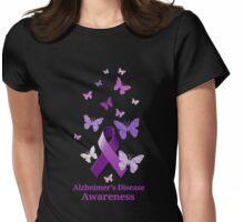 Purple Awareness Ribbon: Alzheimer's Disease Womens Fitted T-Shirt