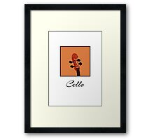 Cello Scroll Framed Print
