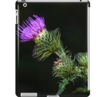 Purple prickly carduus iPad Case/Skin