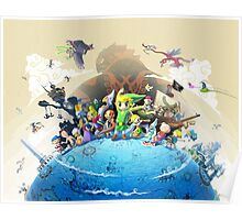 The Legend of Zelda Wind Waker : Characters Poster