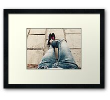 Casual Outfit Woman Relaxing On Summer Day Framed Print