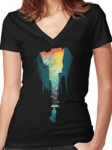 I Want My Blue Sky Women's Fitted V-Neck T-Shirt