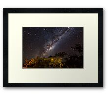 The Milky Way - Kilcowera Station Framed Print
