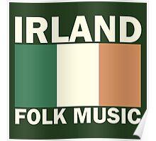 Irland flag folk music Poster