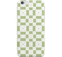 Mint Green & White Geometric Abstract Design iPhone Case/Skin