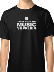 Vinyl music supplier (white) Classic T-Shirt