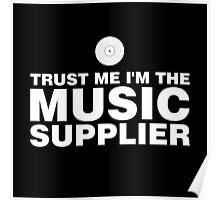 Vinyl music supplier (white) Poster
