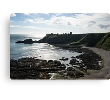Dunnottar Castle Scotland Low Tide Canvas Print