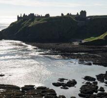 Dunnottar Castle Scotland Low Tide Sticker