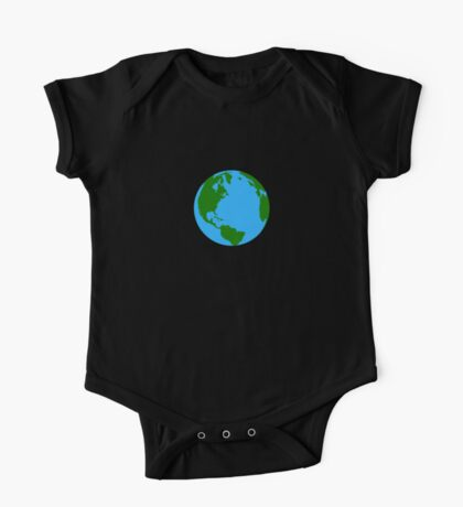 Planet Earth Clock One Piece - Short Sleeve
