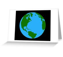 Planet Earth Clock Greeting Card