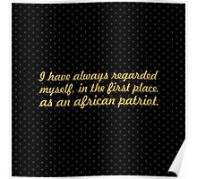 """I have always... """"Nelson Mandela"""" Inspirational Quote (Square) Poster"""