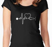 Nurse Heartbeat T Shirt - Nurse Lover T Shirt Women's Fitted Scoop T-Shirt