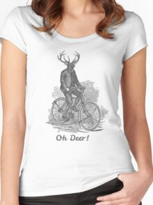 Oh Deer! Women's Fitted Scoop T-Shirt