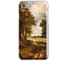 BRITISH SCHOOL (19th Century) Extensive Landscape with Boy Drinking Water from a Stream, circa iPhone Case/Skin