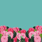 Floral turquoise by Suzanne  Carter