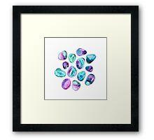 Minty minerales Framed Print