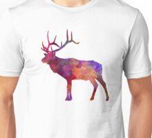 Elk 01 in watercolor Unisex T-Shirt