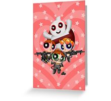 Cute Ghost catcher Squad Greeting Card