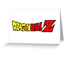 Dragon Ball Z Logo Title Design Greeting Card