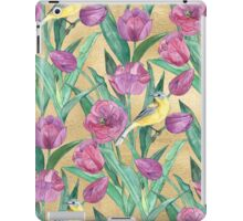 Blue Headed Wagtail in the Tulips iPad Case/Skin