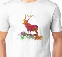 Elk 02 in watercolor Unisex T-Shirt