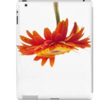 Orange gerbera upside down iPad Case/Skin
