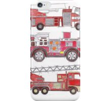 Three fire engines iPhone Case/Skin