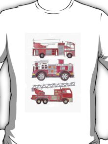 Three fire engines T-Shirt