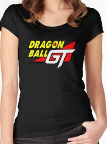 Dragon Ball GT Logo Title Design Women's Fitted Scoop T-Shirt