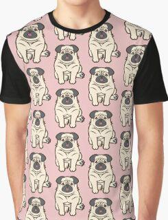 Pug Pattern Graphic T-Shirt