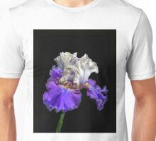Purple and White Bearded Iris Unisex T-Shirt